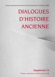 Dialogues d'Histoire Ancienne supplément 14