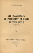 Les Magistrats du parlement de Paris au XVIIIe siècle