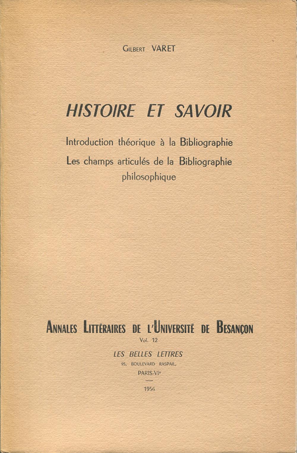Histoire et savoir
