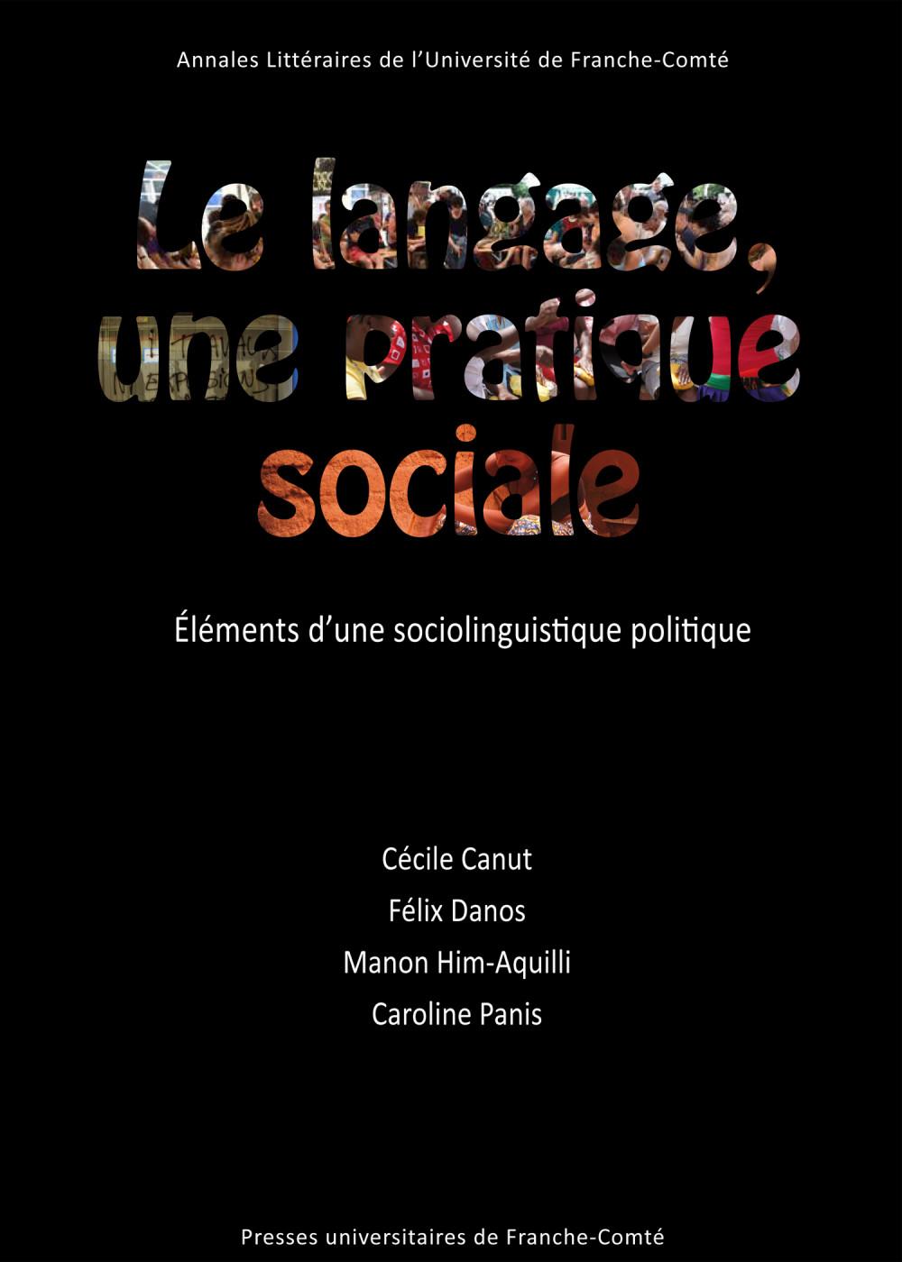 Couverture_Le langage, une pratique sociale_Canut