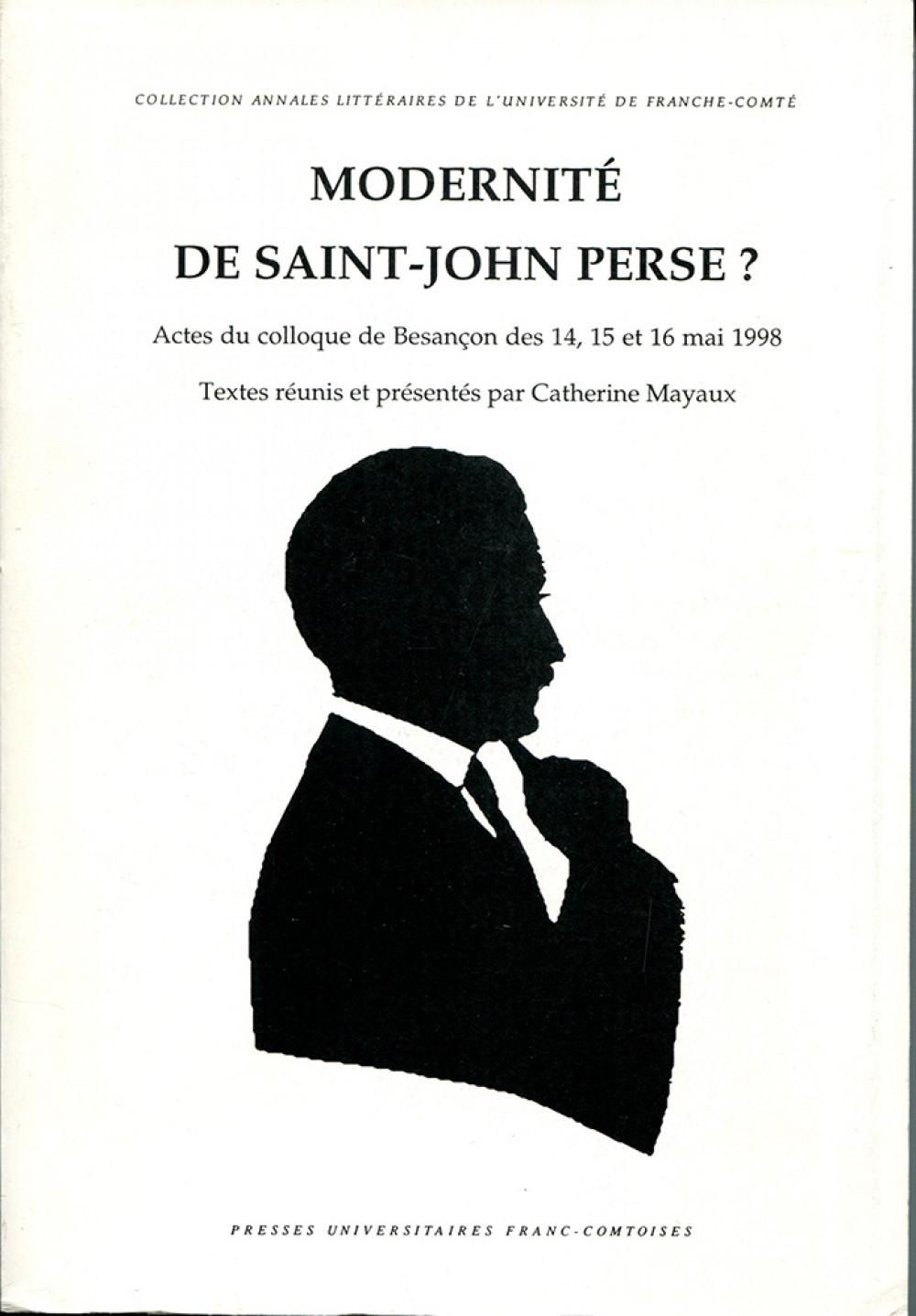 Modernité de Saint John Perse