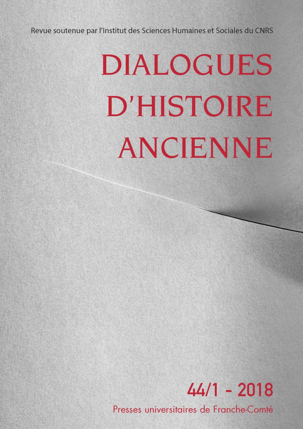 Dialogues d'histoire ancienne 44/1