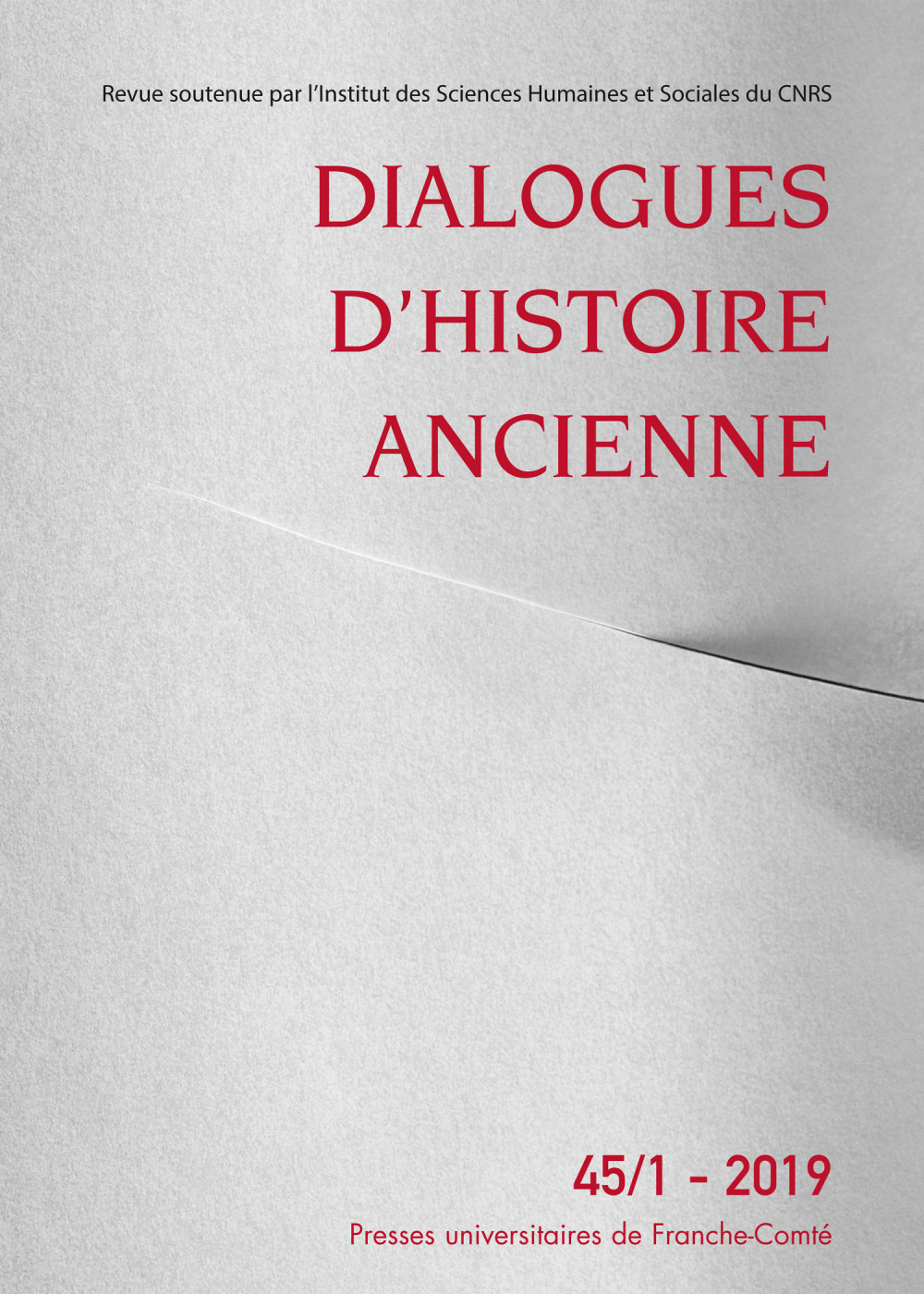 Dialogues d'histoire ancienne 45/1