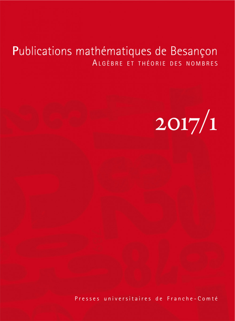 Publications mathématiques de Besançon - Algèbre et théorie des nombres - numéro 2017/1