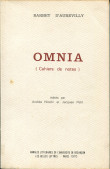 Barbey d'Aurevilly. Omnia (cahiers de notes)