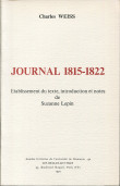 Charles Weiss. Journal 1815-1822