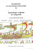 Recherches en linguistique étrangère Vol. XX