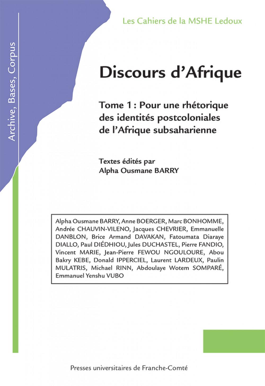 Discours d'Afrique Tome 1